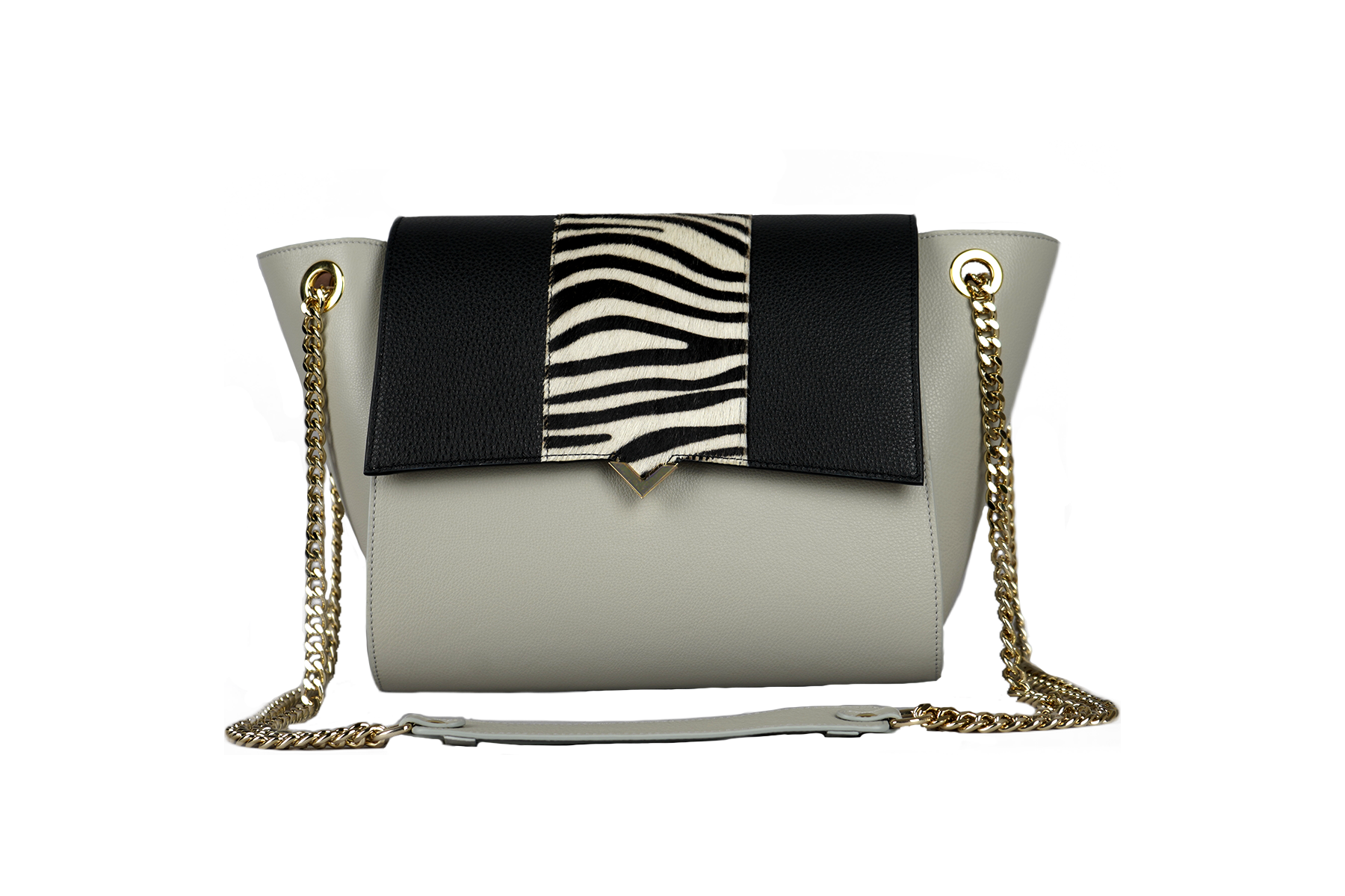 Paris Bag - Pearl Caviar Leather & White Lizard Cover