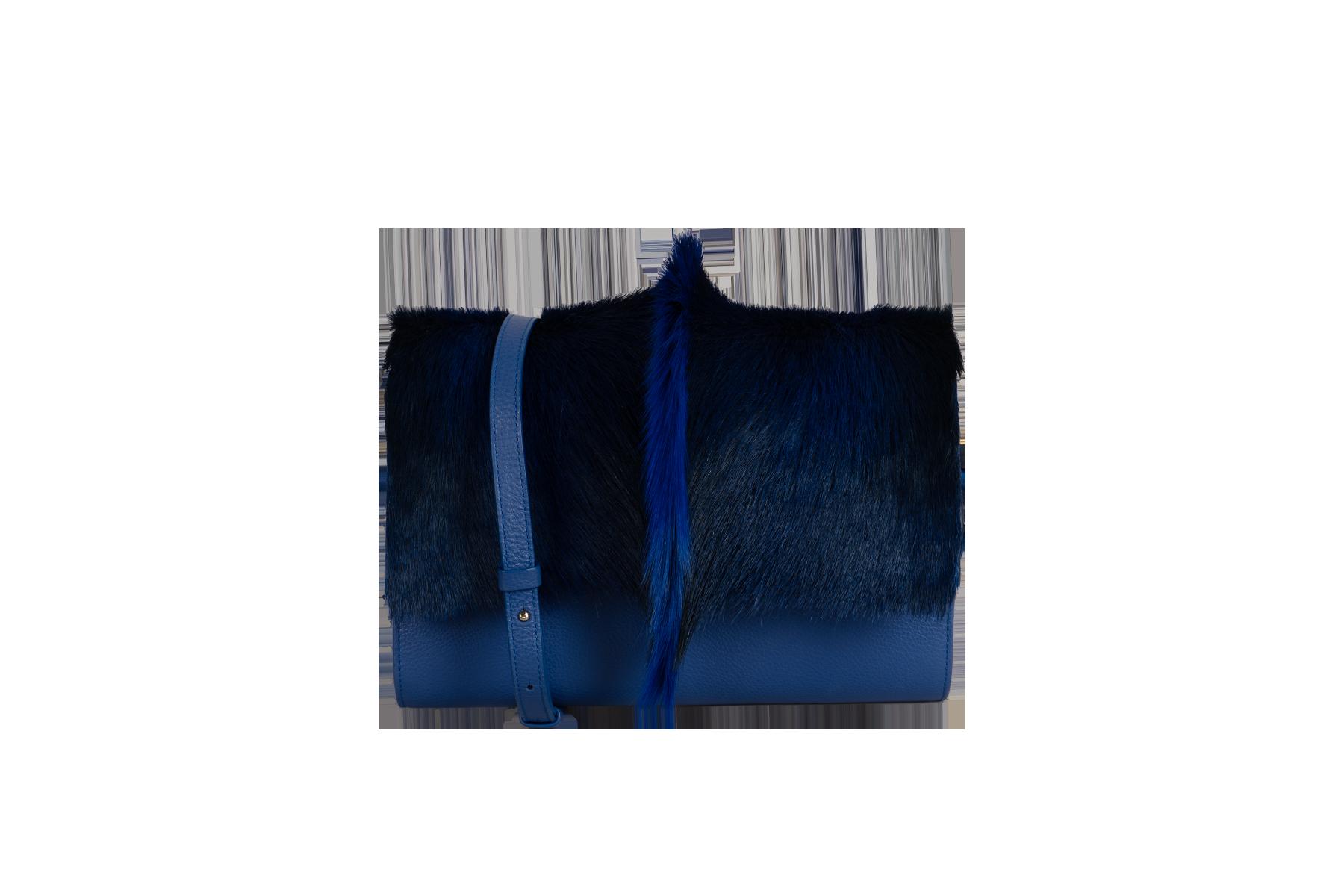 ROMA - Base Cuir Bleu Et Rabat Punk Bleu2