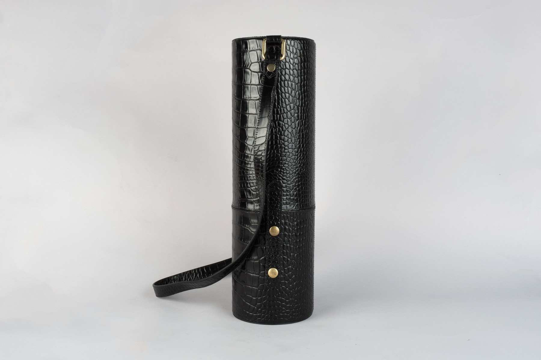black croco leather