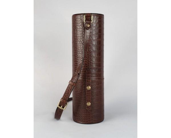 Bruin kroko leather