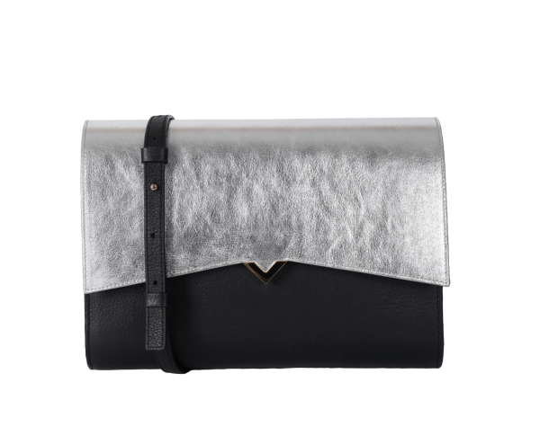 Roma Bag - Black Base and Silver Cover