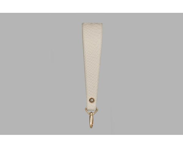 Monaco Strap Beige printed cobra leather