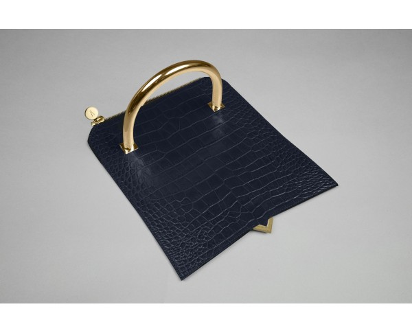 Paris - Cover croco navy blue
