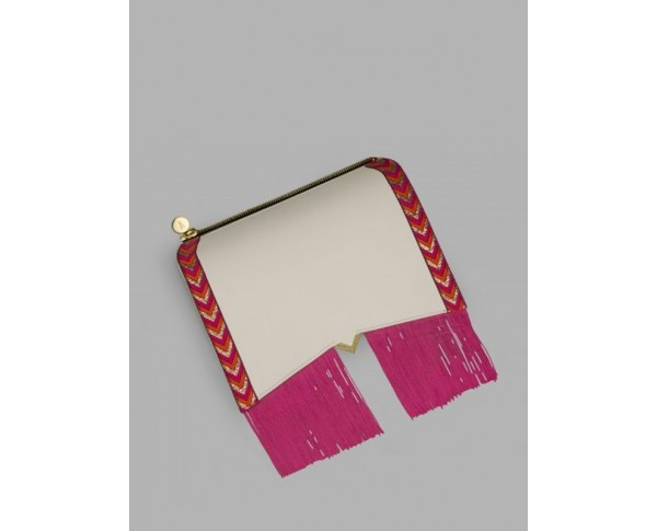Roma - Cover fringes fuschia