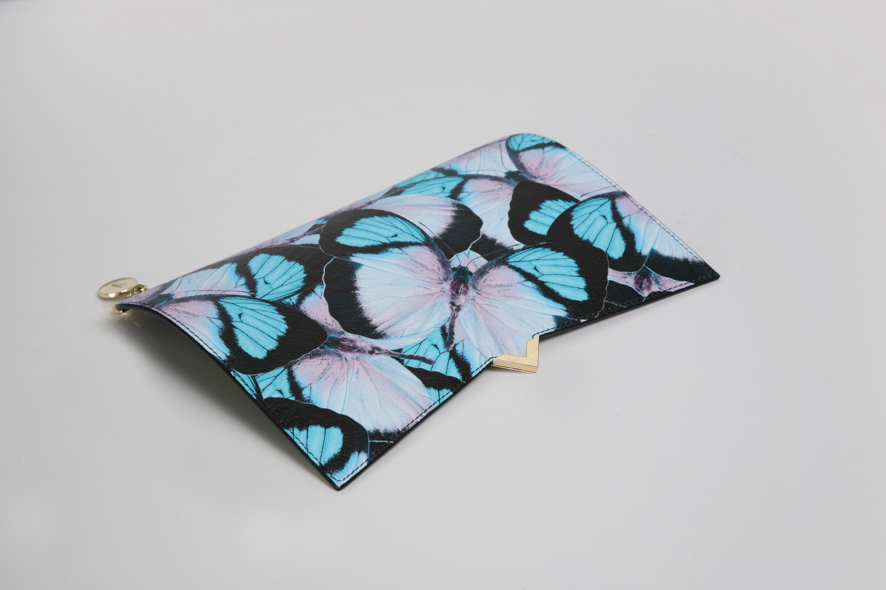 BUTTERFLY PRINT LEATHER