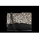 Sac Roma - Base Cuir Caviar noir & Rabat Leopard
