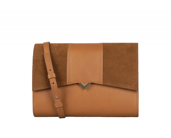 ROMA BAG - Camel Leather & Camel Leather and Suede Cover