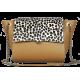 Sac Paris - Base Cuir Camel et Rabat Poils Leopard