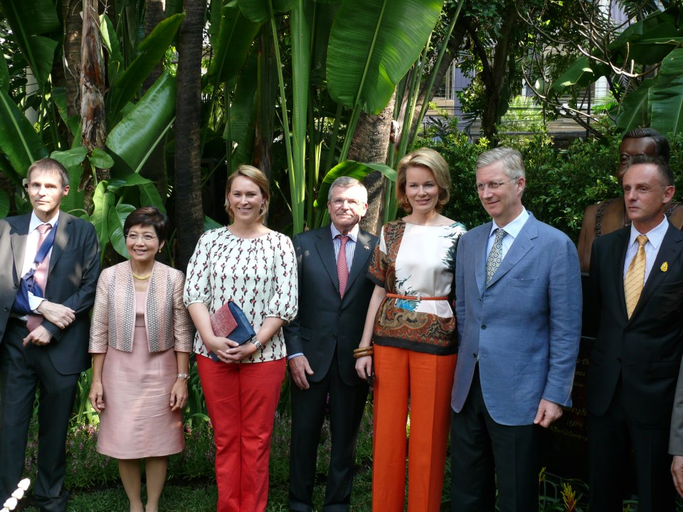 Belgian Royal Family & Minister Céline Frémault wearing VERSA