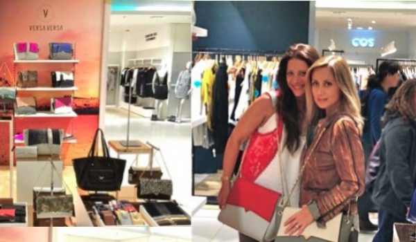 Shopping with Lara Fabian @ Galeries Lafayette with Sinead designer